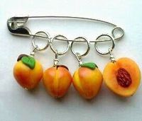 Georgia Peach Stitch Markers / for knitting by scarymerry, $13.50