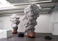 Billowing Tire Sculptures Address Global Pollution