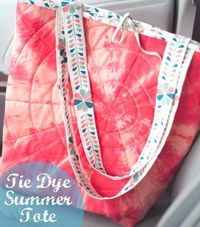 tie dye summer tote from