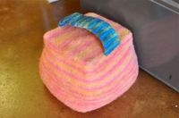 felted doorstop by waldorf mama