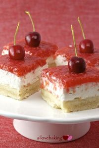 cherry cream cheese shortbread.