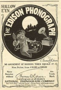 Halloween Phonograph recording.