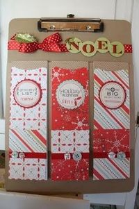 Holiday planner clipboard - cool idea. Can one be too organized?