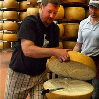 At a Parmigiano producer in Parma - Instagram by