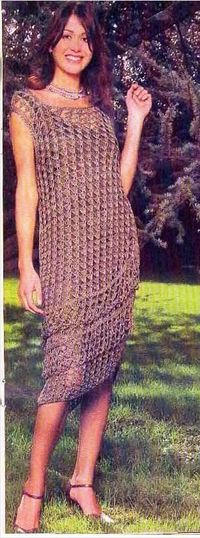 Mesh Dress diagram free crochet pattern