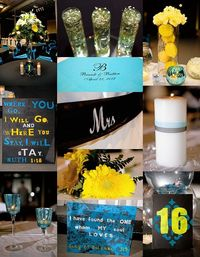Blue and Yellow #wedding inspiration board