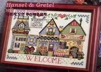 M�S PUNTO DE CRUZ: country Hansel and Gretel Welcome Houses free cross stitch pattern