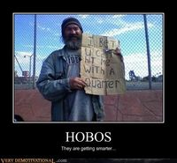 Clever hobo