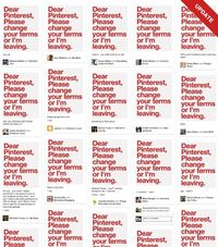 Follow-up to the questions about Pinterest's TOS.