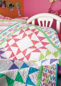 Mix & Match quilt pattern featured in the free Sparkling Star Quilt patterns eBook from McCall's Quilting.