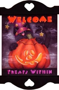Welcome, Treats Within Sign