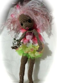 Flutterby the Butterfly Fairy doll , made my Crochet Bright and Beautiful ( ie me! )pinned with Pinvolve