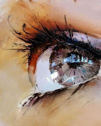 oil painting of eye