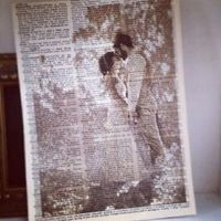 Print pictures onto book page - smart idea