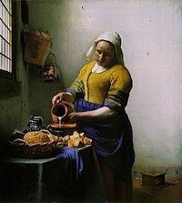 Fabulous portrait of a maid by Johannes Vermeer. The dutch old masters were indeed masters!