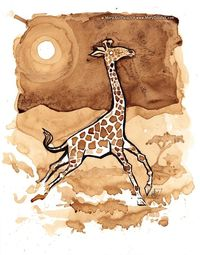 Coffee Giraffe by MaryDoodles.deviantart.com