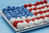 4th of july :: cake ball flag