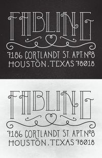 Personal address stamp by Jay Higginbotham, via Behance