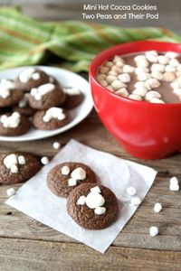 Mini Hot Cocoa Cookies from www.twopeasandtheirpod.com