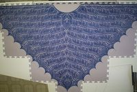 Like the leaf/vine pattern, and this shade is good too. Ravelry: Covington Shawl pattern by Mary R. White