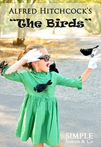 """The Birds"" costume for a little girl"