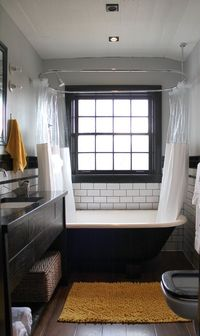 Subway tiles, big windows, beautiful floors