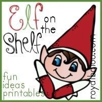 Elf on the shelf printables - cards to go with Elf on the Shelf ideas and Christmas countdown strips.