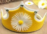 Felt crown ~ tutorial with free template