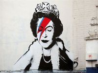 Banksy Comes Out For The Queen's Diamond Jubilee