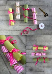 How to make Christmas Crackers with little prizes inside.