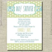Printable Baby Shower Invitation - Boy
