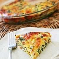 Crustless Kale Quiche - Gluten free easy quiche