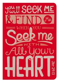 Bible Jeremiah 29:13 All your heart