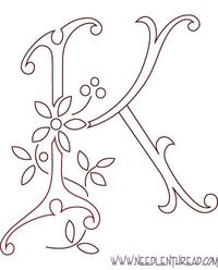 Posts Similar To Monogram For Hand Embroidery Letter K Needle