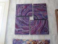 Quilt on canvas- Stupendous stitching - The I of Isaac