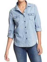 Women's Chambray Shirts | Old Navy