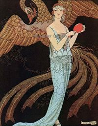 1920's evening gown by Beer, art by George Barbier