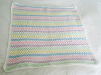 Crochet baby blanket candy pastel and white by bedtimeblues