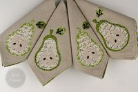 During Quiet Time: Pear Applique Napkins Tutorial