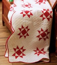 red Ohio Star quilt | repostNED