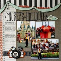 Love this layout for Mickey's Halloween Party!