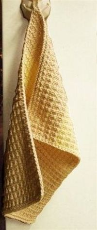 Leftover Towels dishcloth knitting pattern with cotton yarn