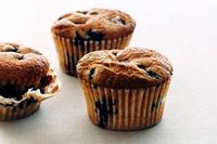 Blueberry Muffins: 12 servings; 51 calories per serving