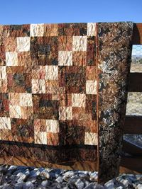 Batik Quilt Brown and Tan