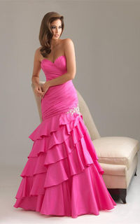 Night Moves by Allure 6467 dress in hot pink