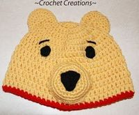 Crochet Creative Creations- Free Patterns and Instructions: Crochet Preemie Winnie the Pooh Hat