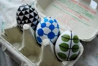 Swedish classic #patterns pasted on decoration eggs