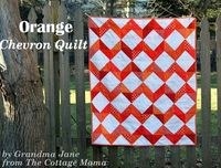 Orange chevron quilt