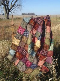 Sugarplum Rag Quilt Throw Ready to Ship by TheLaughingBlackbird, $125.00
