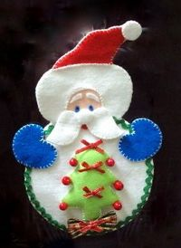 Bello Santa Claus in felt